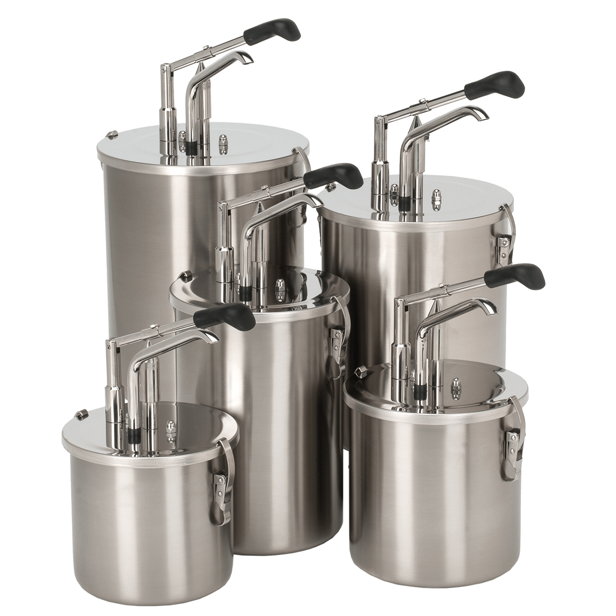 Lever-action Dispenser Stainless Steel Container